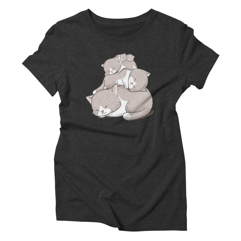Comfy Bed - CAT Women's Triblend T-Shirt by Flying Mouse365
