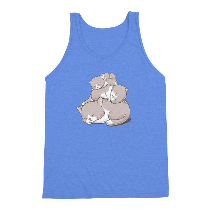 Comfy Bed - CAT Men's Triblend Tank by Flying Mouse365