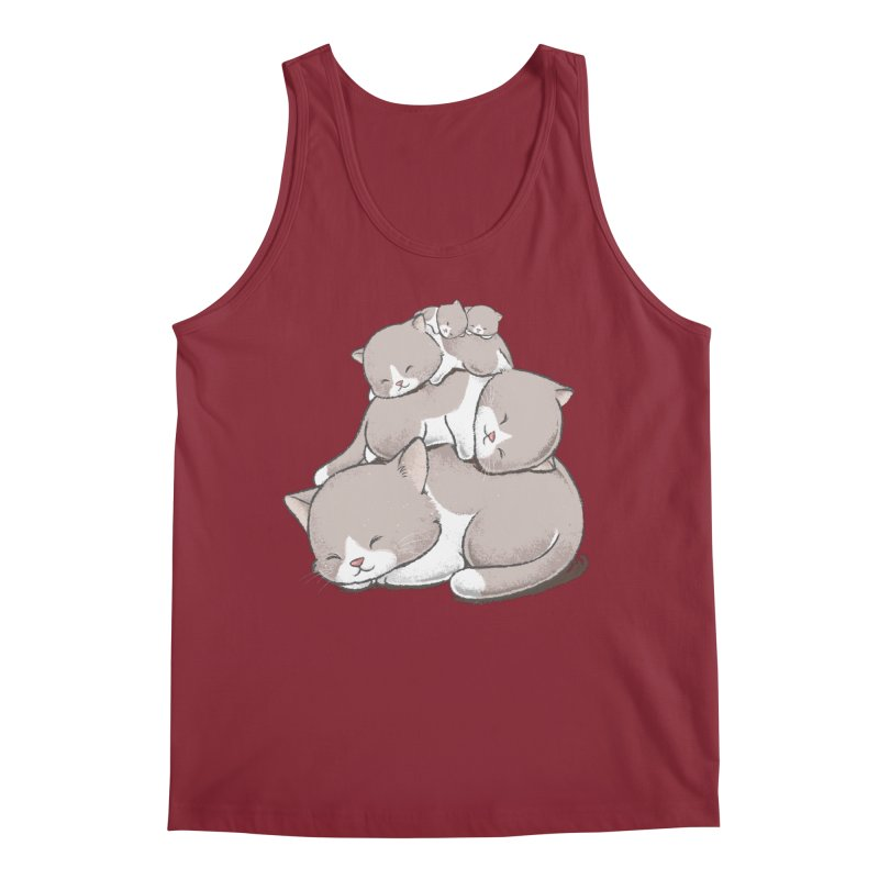 Comfy Bed - CAT Men's Tank by Flying Mouse365
