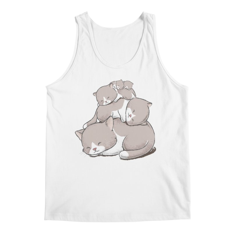 Comfy Bed - CAT Men's Regular Tank by Flying Mouse365