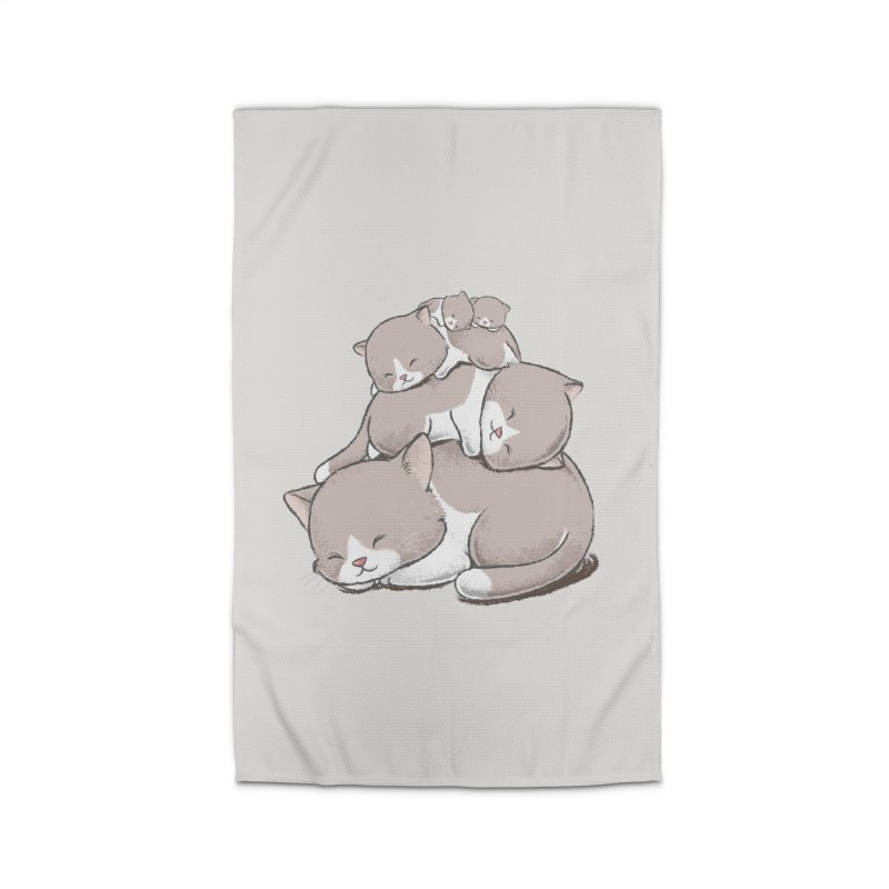 Comfy Bed - CAT Home Rug by Flying Mouse365