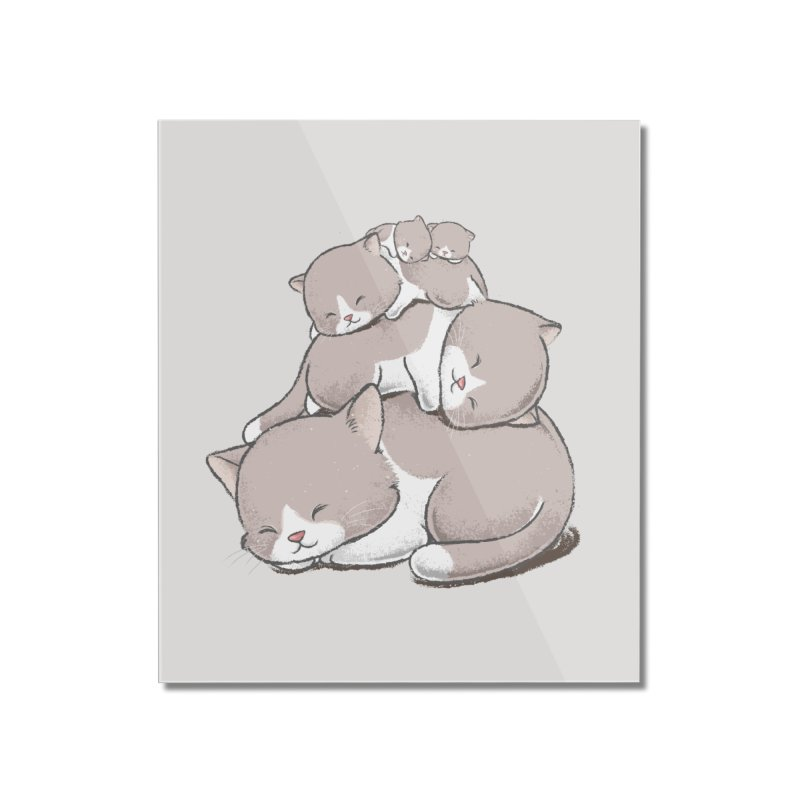 Comfy Bed - CAT Home Mounted Acrylic Print by Flying Mouse365