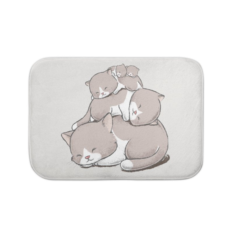 Comfy Bed - CAT Home Bath Mat by Flying Mouse365