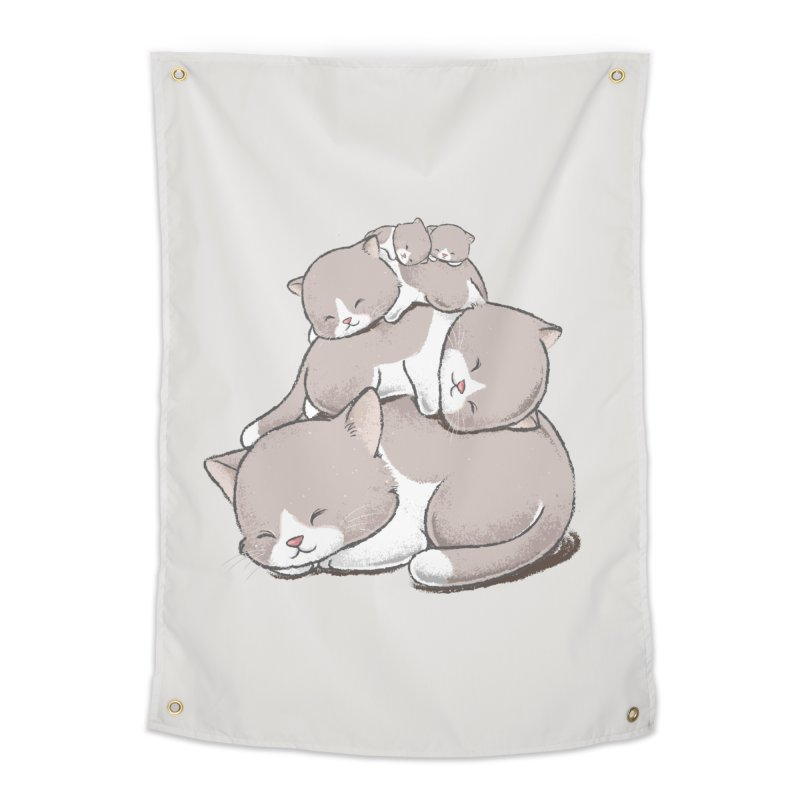 Comfy Bed - CAT Home Tapestry by Flying Mouse365