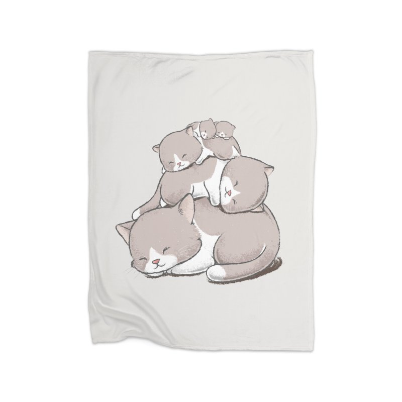 Comfy Bed - CAT Home Fleece Blanket Blanket by Flying Mouse365