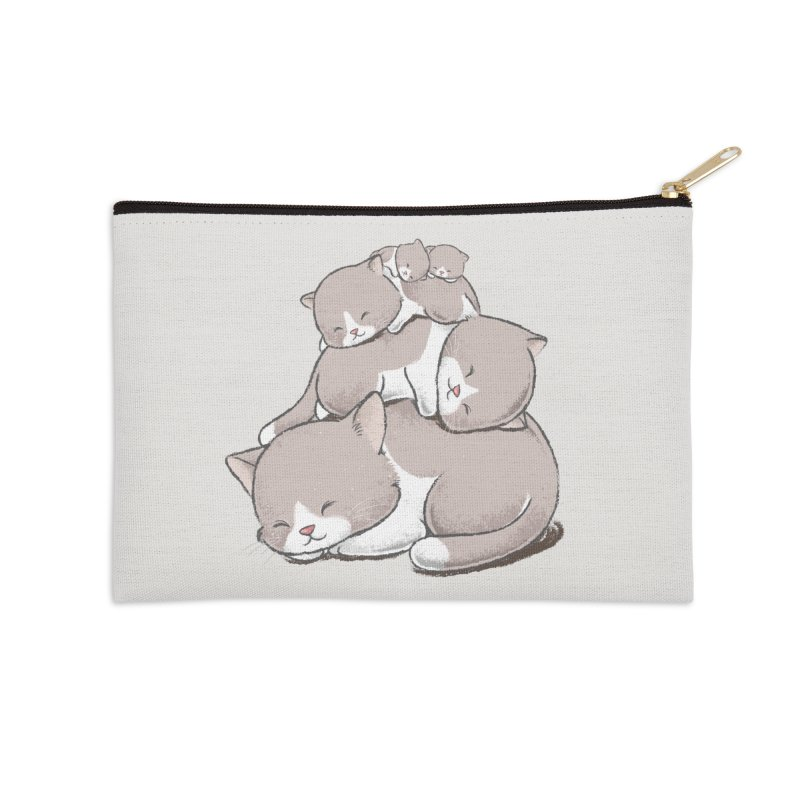 Comfy Bed - CAT Accessories Zip Pouch by Flying Mouse365