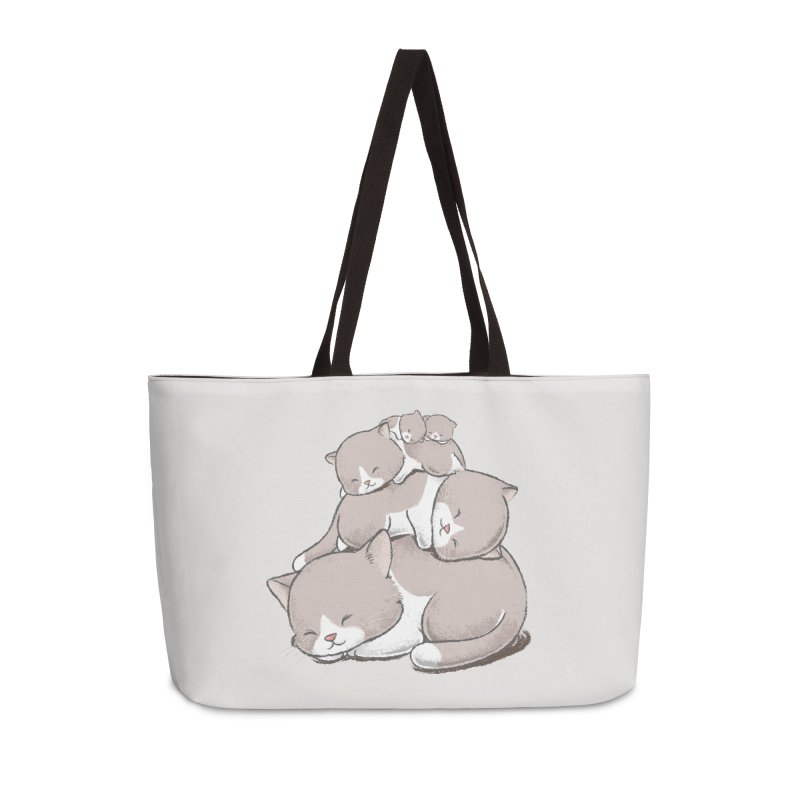 Comfy Bed - CAT Accessories Weekender Bag Bag by Flying Mouse365