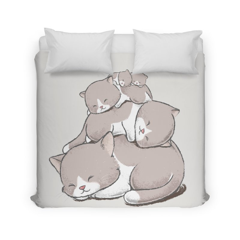 Comfy Bed - CAT Home Duvet by Flying Mouse365