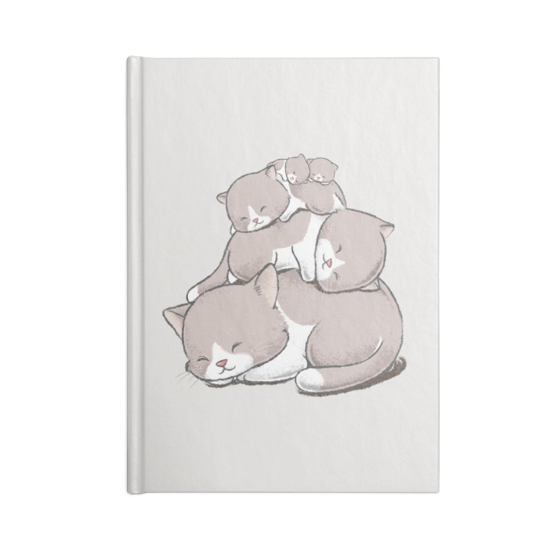 Comfy Bed - CAT Accessories Blank Journal Notebook by Flying Mouse365