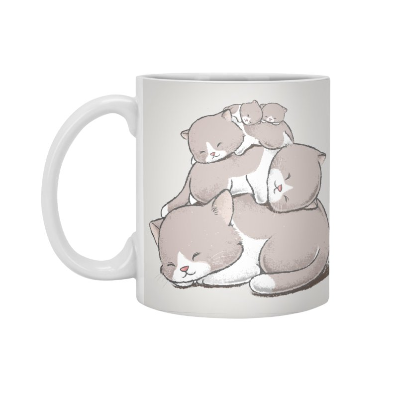 Comfy Bed - CAT Accessories Standard Mug by Flying Mouse365