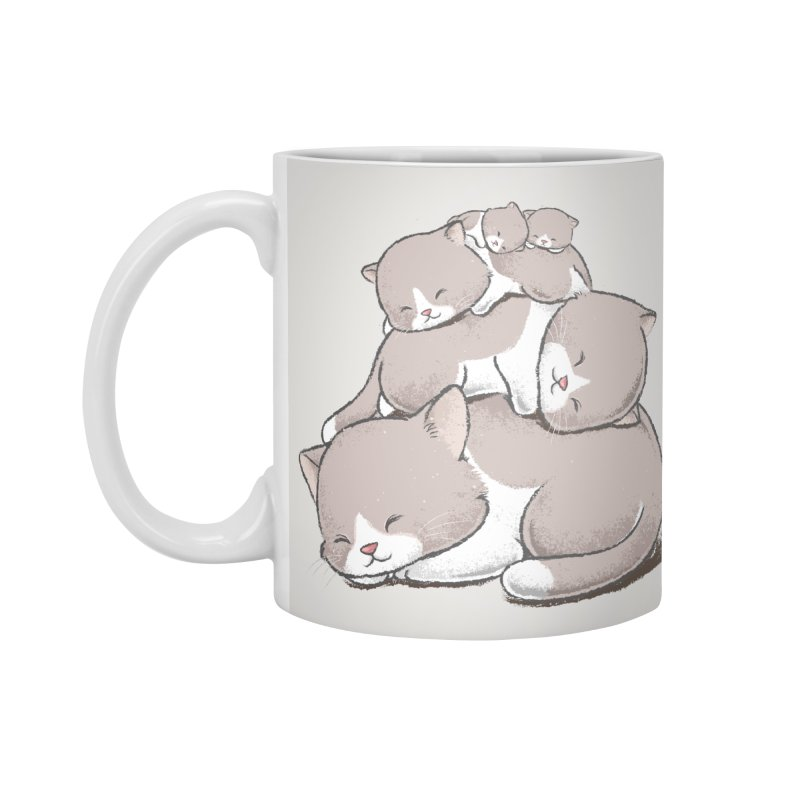 Comfy Bed - CAT Accessories Mug by Flying Mouse365
