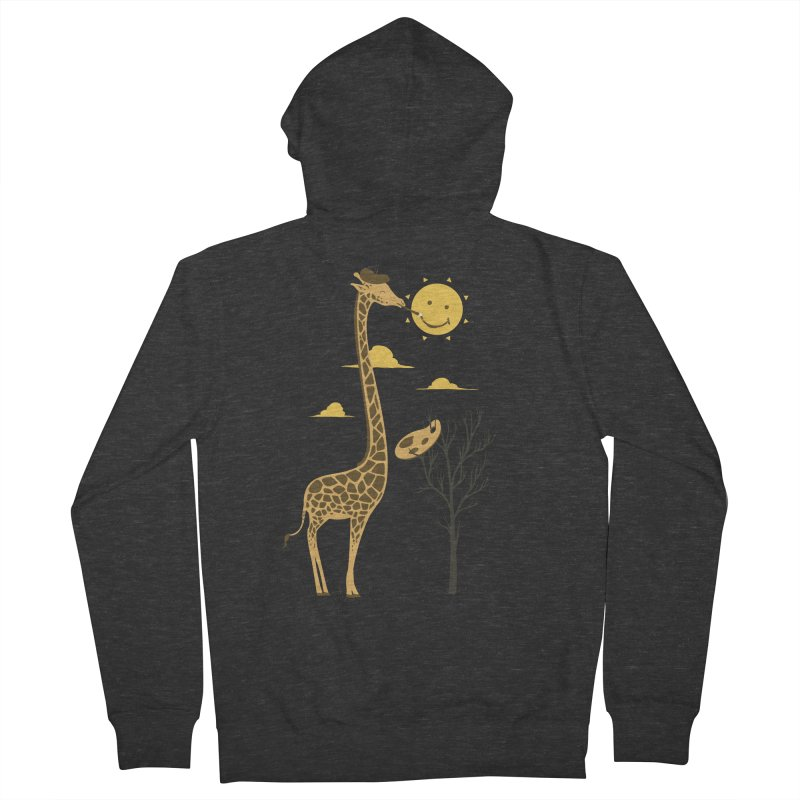 Painting Smiley Men's Zip-Up Hoody by Flying Mouse365