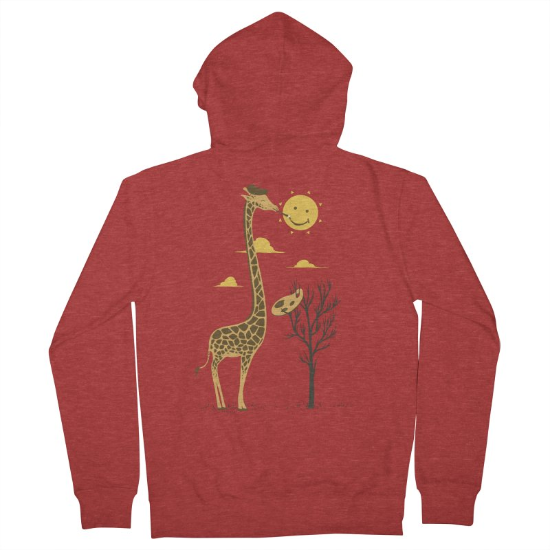 Painting Smiley Men's French Terry Zip-Up Hoody by Flying Mouse365