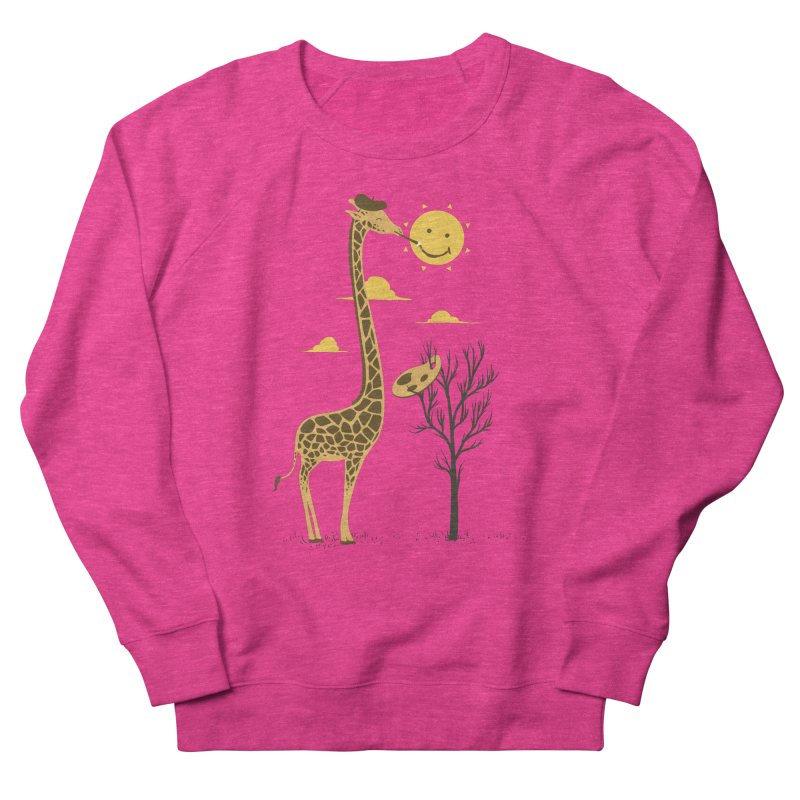 Painting Smiley Women's French Terry Sweatshirt by Flying Mouse365