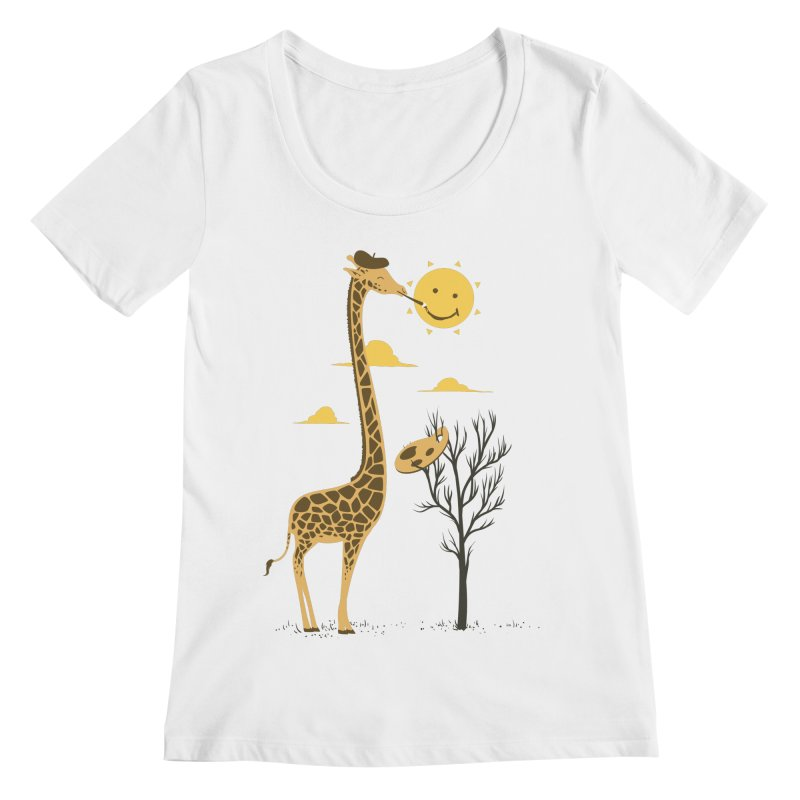 Painting Smiley Women's Regular Scoop Neck by Flying Mouse365