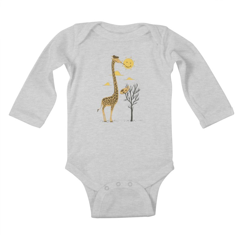 Painting Smiley Kids Baby Longsleeve Bodysuit by Flying Mouse365