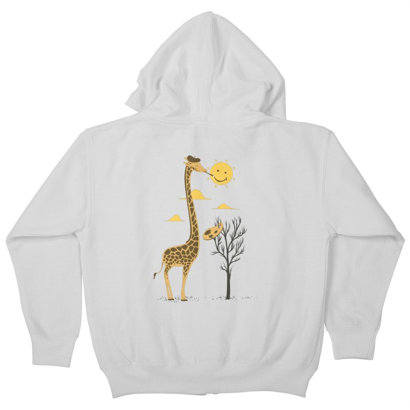 Painting Smiley Kids Zip-Up Hoody by Flying Mouse365