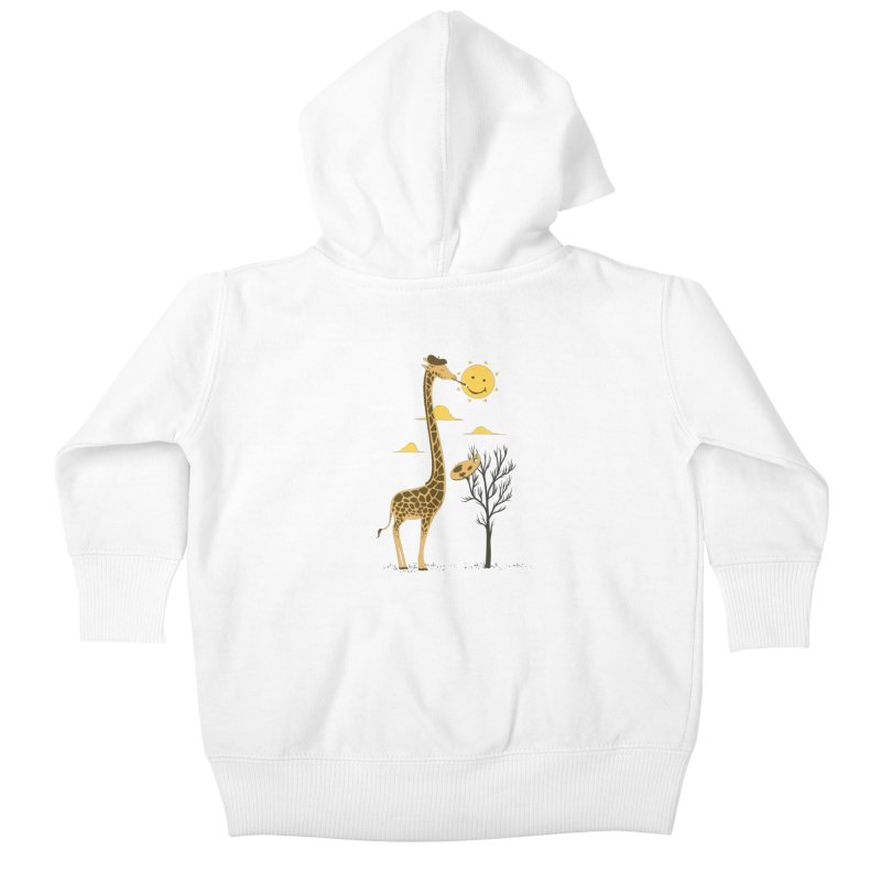 Painting Smiley Kids Baby Zip-Up Hoody by Flying Mouse365