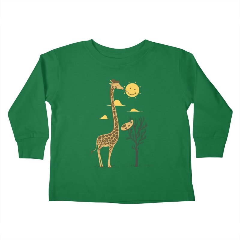 Painting Smiley Kids Toddler Longsleeve T-Shirt by Flying Mouse365