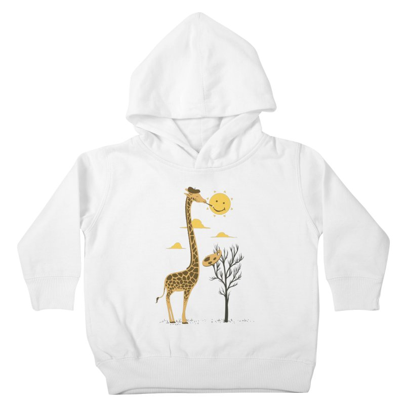 Painting Smiley Kids Toddler Pullover Hoody by Flying Mouse365