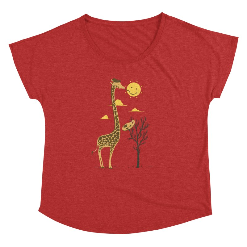 Painting Smiley Women's Dolman by Flying Mouse365
