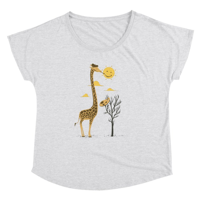 Painting Smiley Women's Dolman Scoop Neck by Flying Mouse365