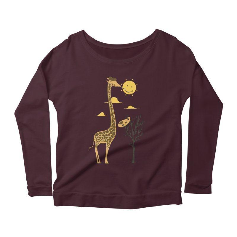 Painting Smiley Women's Longsleeve T-Shirt by Flying Mouse365