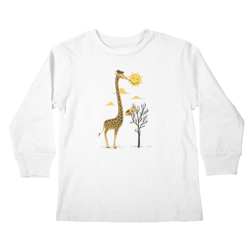 Painting Smiley Kids Longsleeve T-Shirt by Flying Mouse365