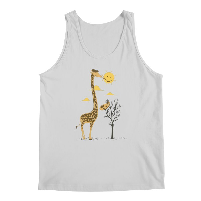 Painting Smiley Men's Tank by Flying Mouse365