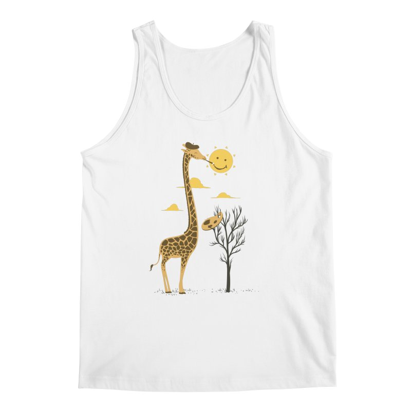 Painting Smiley Men's Regular Tank by Flying Mouse365