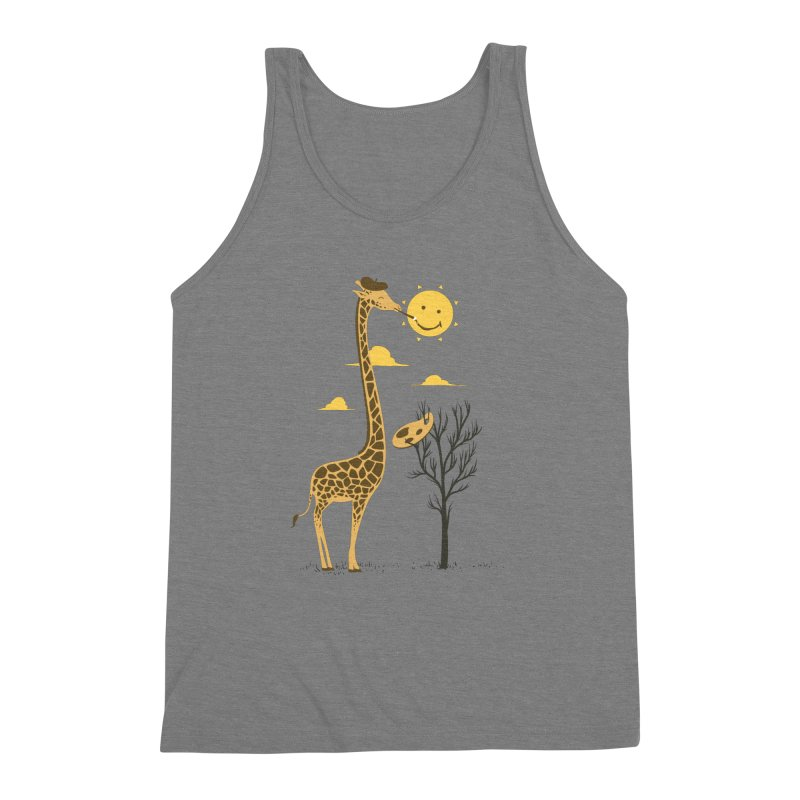 Painting Smiley Men's Triblend Tank by Flying Mouse365