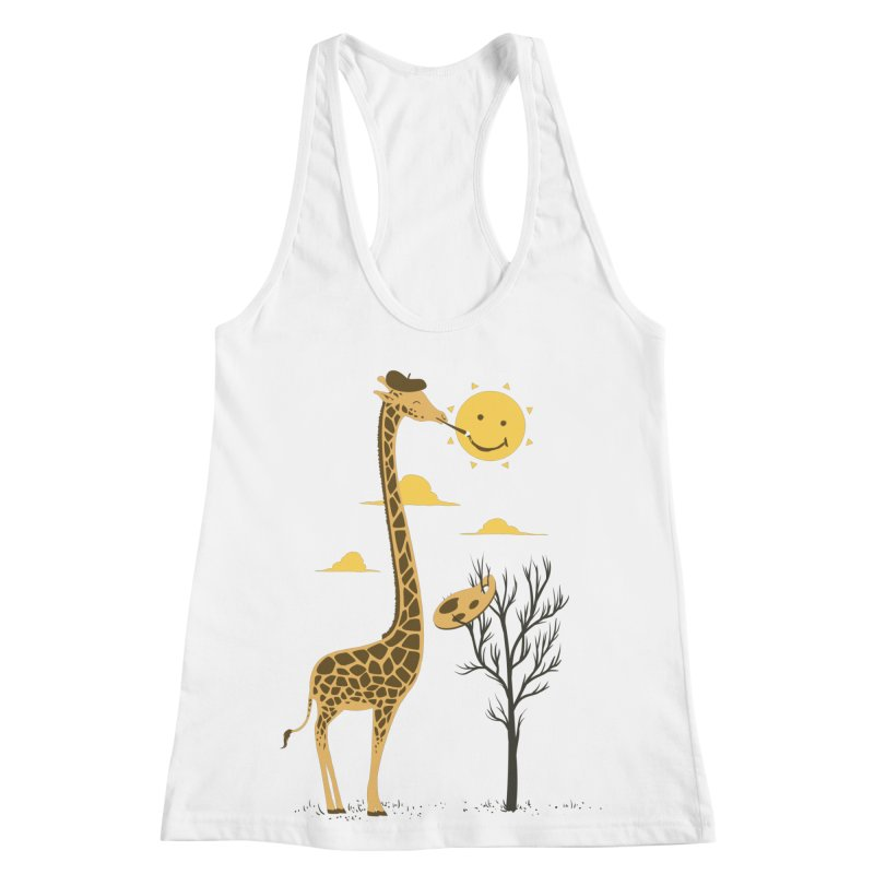 Painting Smiley Women's Racerback Tank by Flying Mouse365