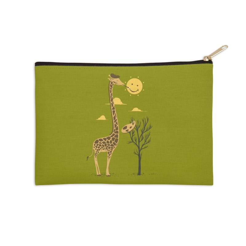 Painting Smiley Accessories Zip Pouch by Flying Mouse365