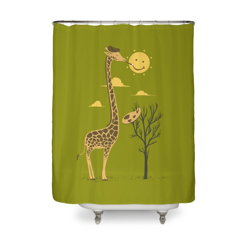 Painting Smiley Home Shower Curtain by Flying Mouse365