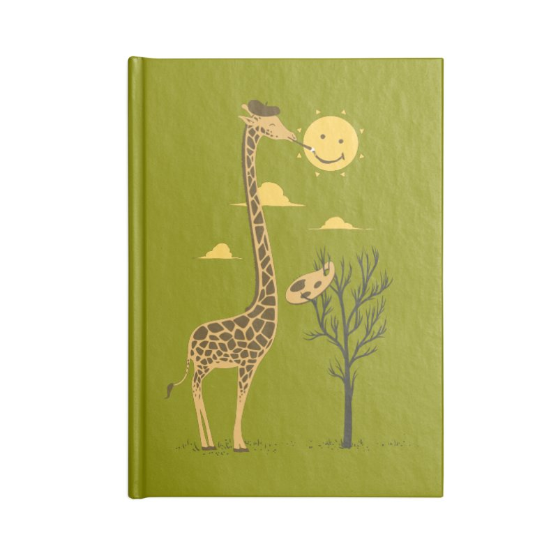 Painting Smiley Accessories Notebook by Flying Mouse365