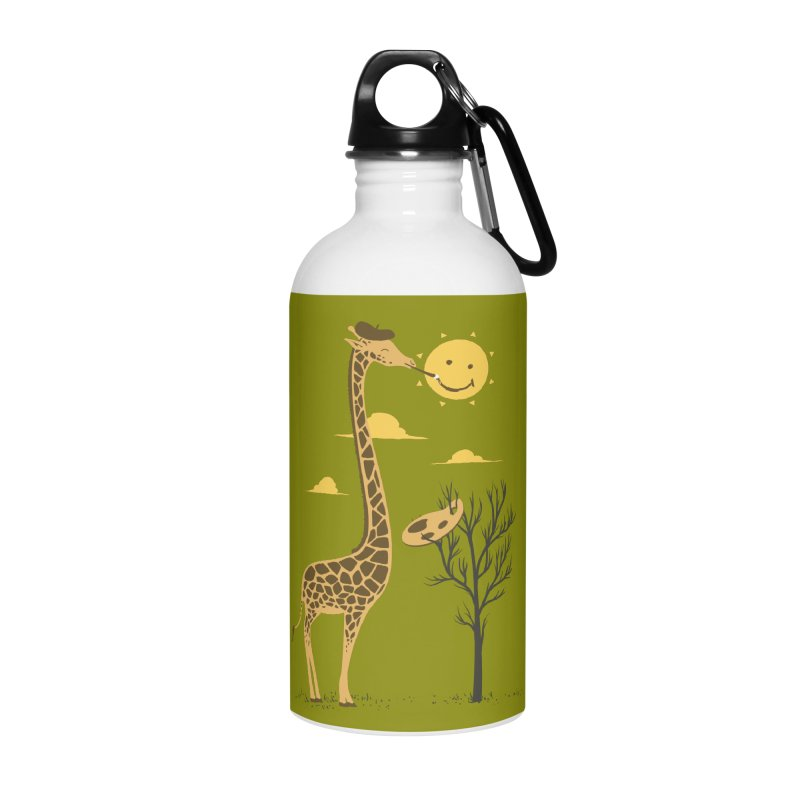 Painting Smiley Accessories Water Bottle by Flying Mouse365