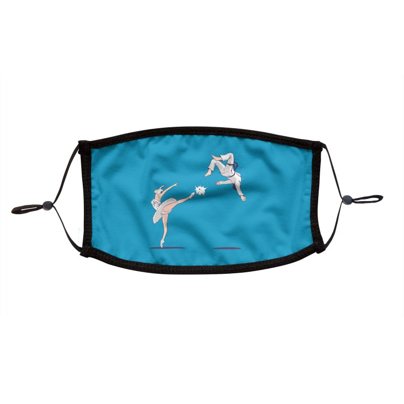 Swan Kick Accessories Face Mask by Flying Mouse365
