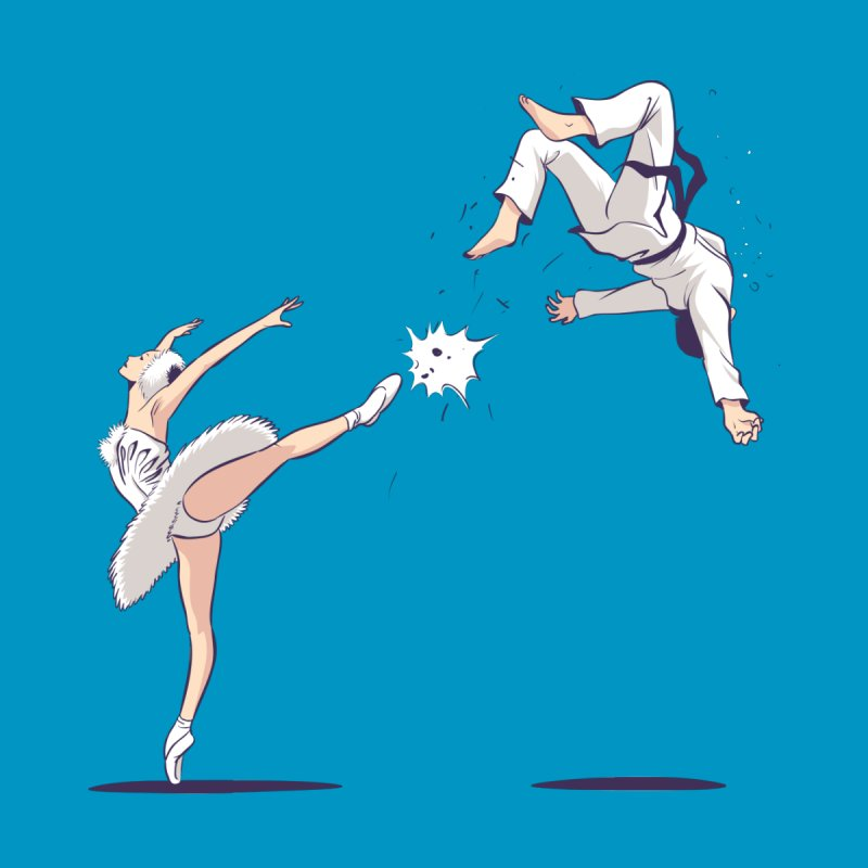 Swan Kick by Flying Mouse365
