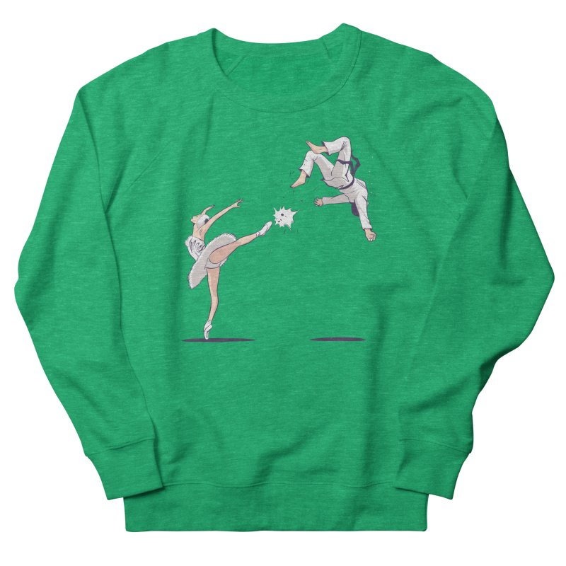 Swan Kick Women's Sweatshirt by Flying Mouse365