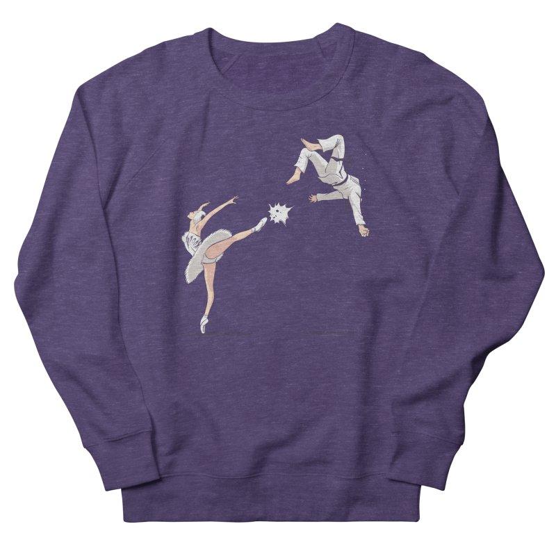 Swan Kick Women's Sweatshirt by Flying Mouse365