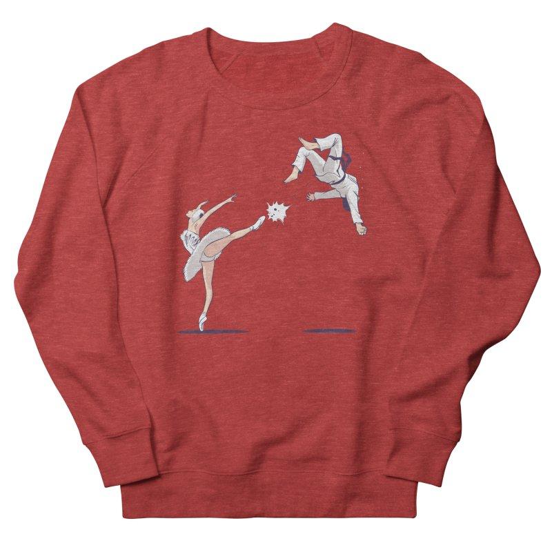 Swan Kick Women's Sponge Fleece Sweatshirt by Flying Mouse365