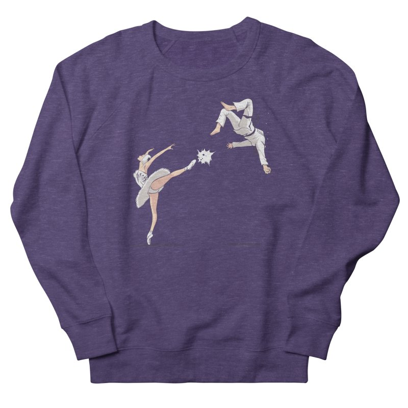 Swan Kick Men's Sweatshirt by Flying Mouse365