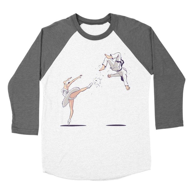 Swan Kick Women's Longsleeve T-Shirt by Flying Mouse365