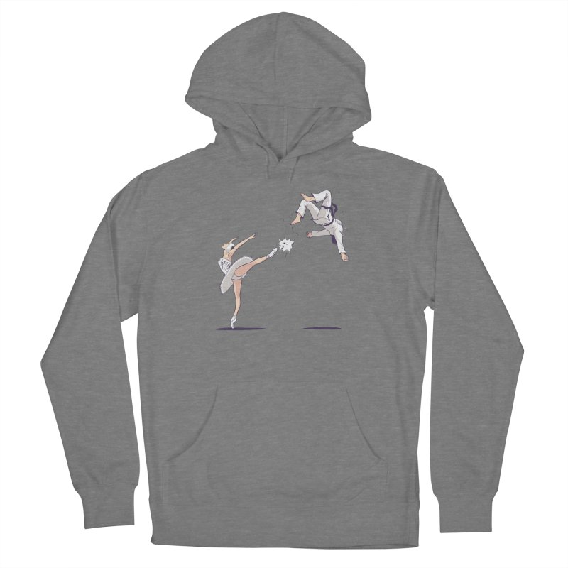Swan Kick Women's Pullover Hoody by Flying Mouse365