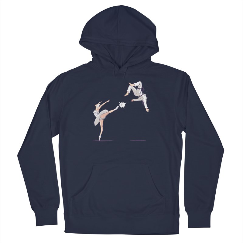 Swan Kick Men's Pullover Hoody by Flying Mouse365