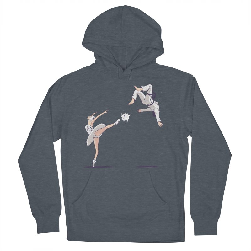 Swan Kick Women's French Terry Pullover Hoody by Flying Mouse365