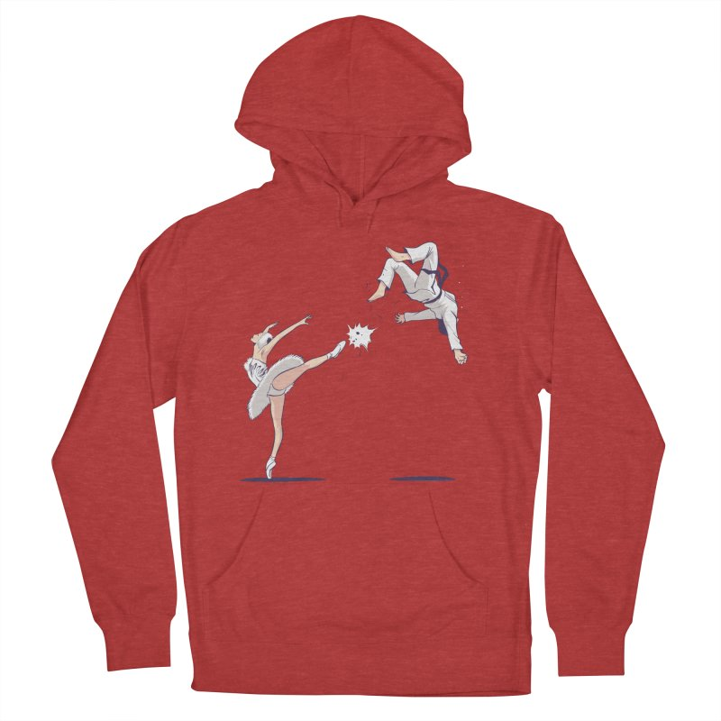 Swan Kick Men's French Terry Pullover Hoody by Flying Mouse365