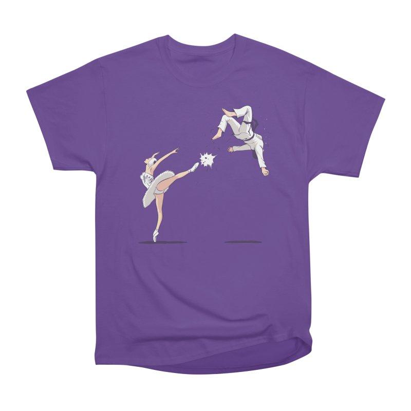 Swan Kick Women's Heavyweight Unisex T-Shirt by Flying Mouse365