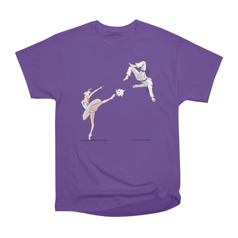 Swan Kick Men's Heavyweight T-Shirt by Flying Mouse365
