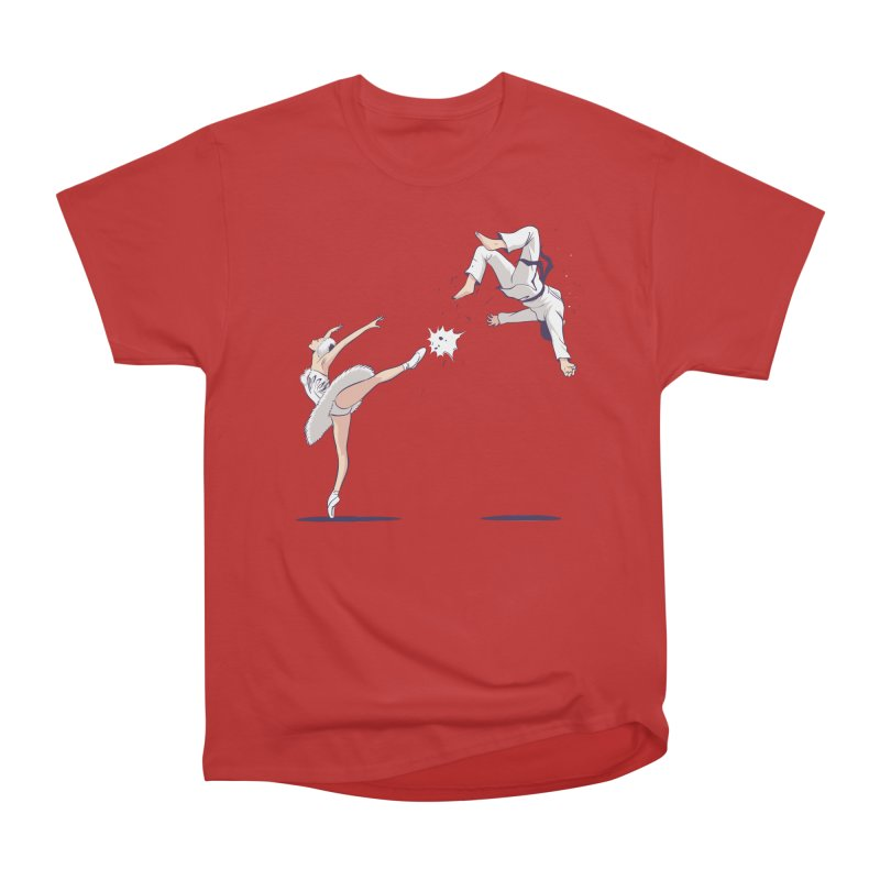Swan Kick Women's Heavyweight Unisex T-Shirt by Flying Mouse365